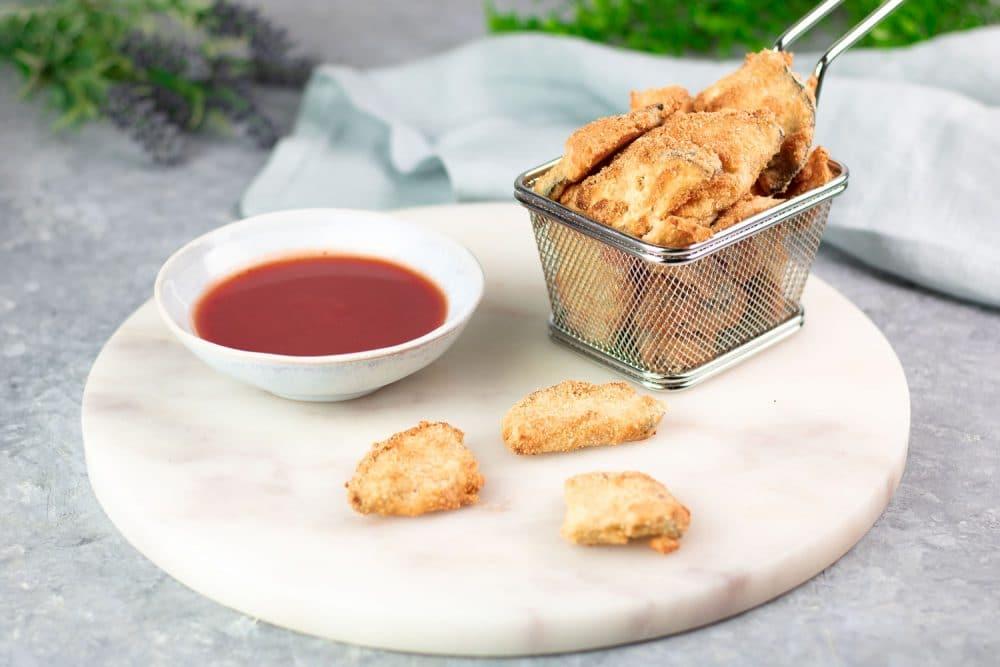 Die Auberginen-Nuggets sind Low Carb, glutenfrei und zuckerfrei.