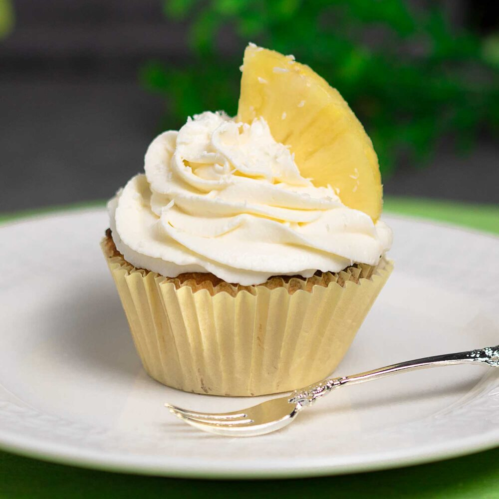 Die Pina-Colada-Cupcakes sind lecker und Low Carb.