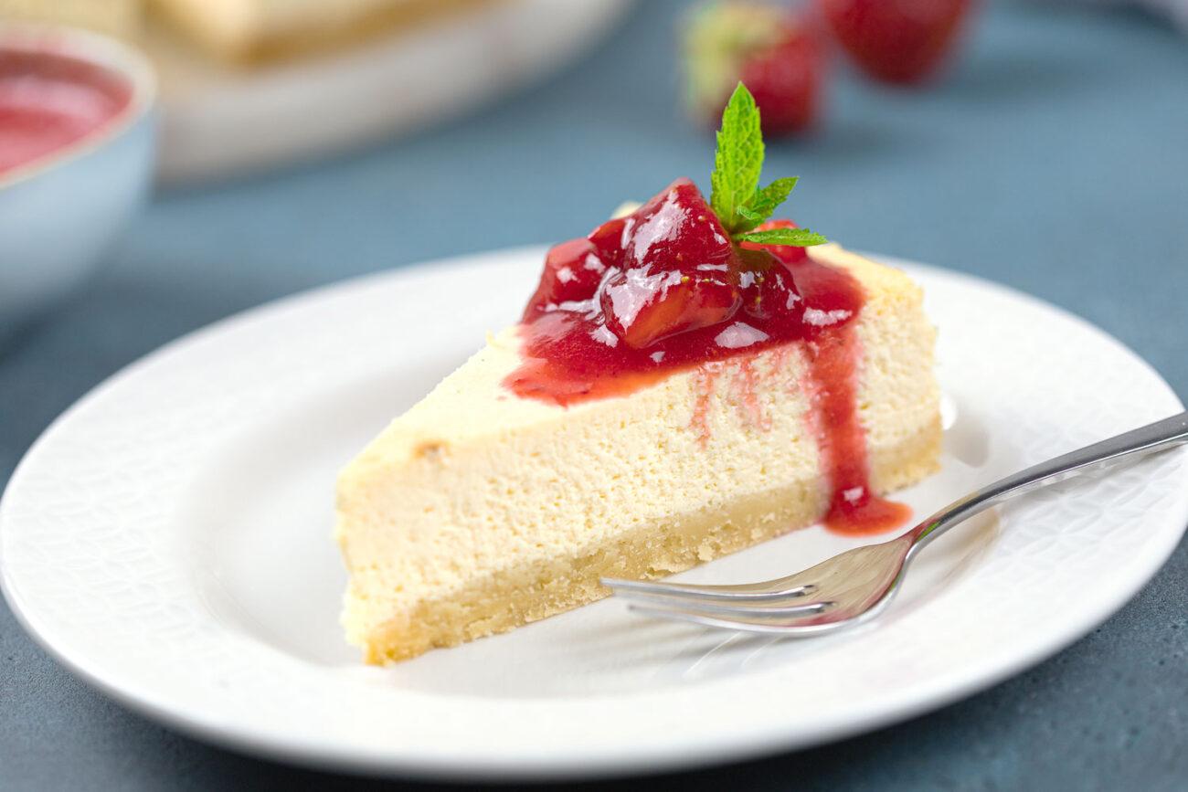 New York Cheesecake: Low Carb und Glutenfrei