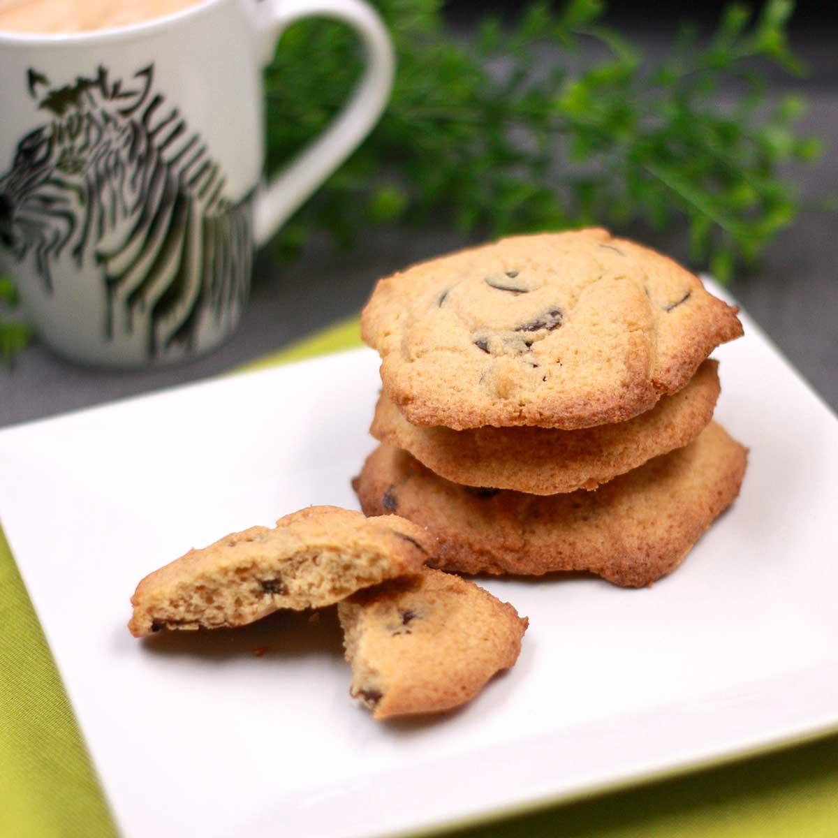 Die Chocolate-Chip-Cookies sind lecker und Low Carb.