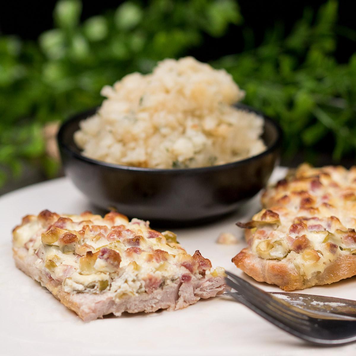 Das Schnitzel Elsässer art ist ein leckeres Low Carb Gericht..