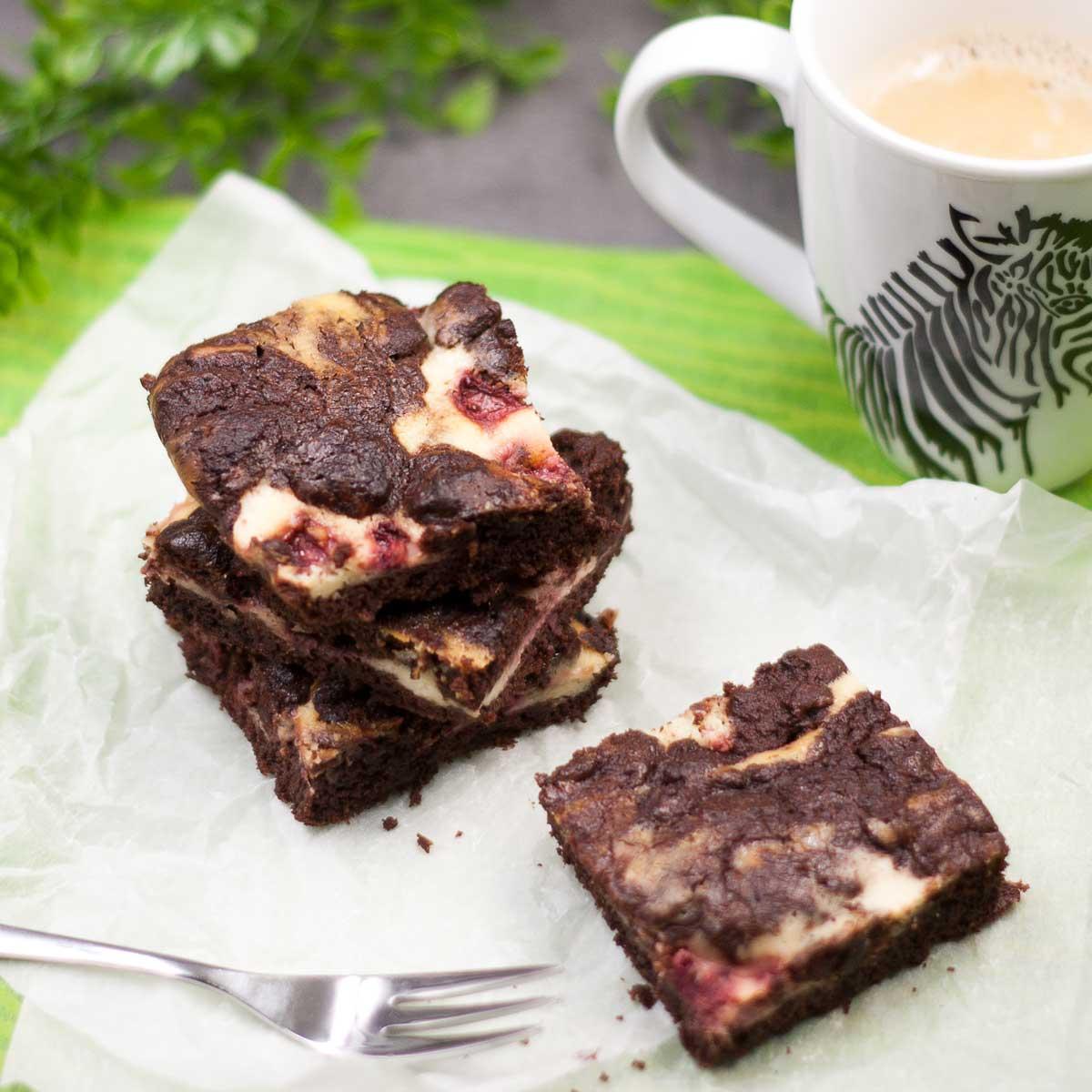 Erdbeer-Cheesecake-Brownies
