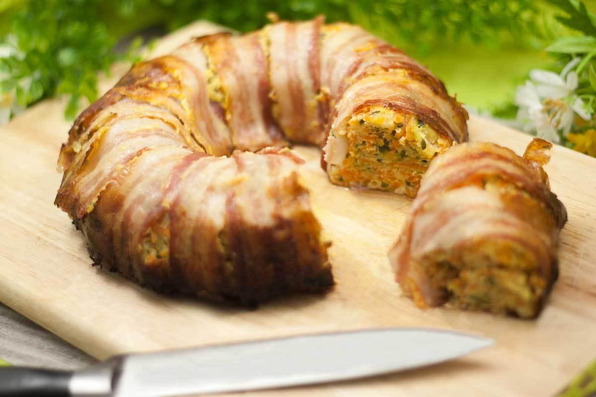 Gemüse-Bacon-Ring, lecker und lowcarb