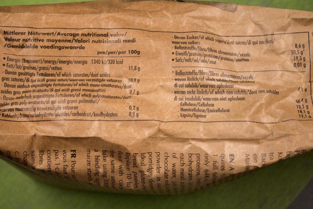 Die Nährwerte sind wichtig, aber je nach Produkt unterscheiden Sie sich, darum rechne die Kalorien am besten selbst aus!