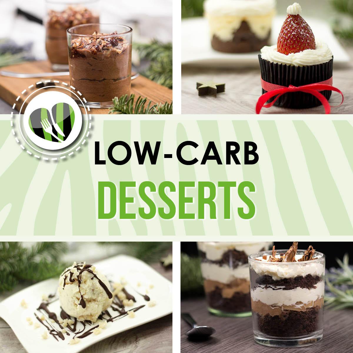 Die Low Carb Desserts sind optimale Nachspeisen für Weihnachten und die Adventszeit. Alle Leckereien sind Low Carb und glutenfrei.