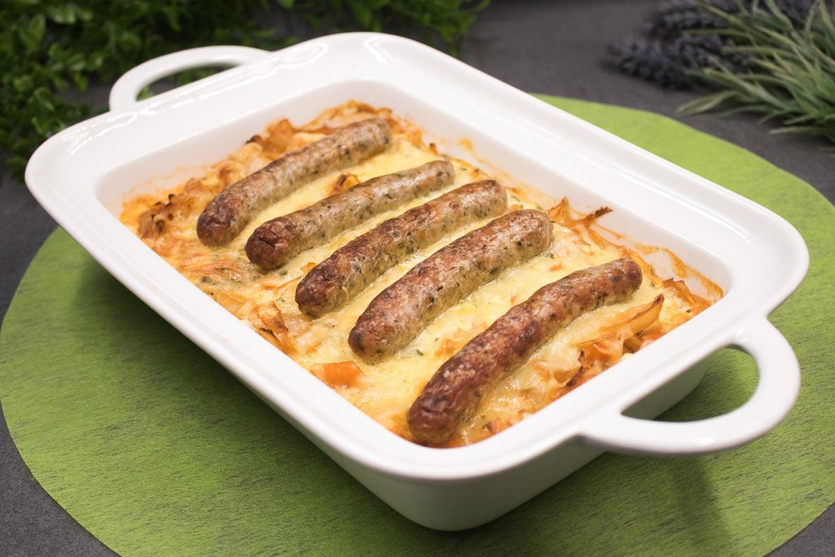 Das Nürnberger Weißkohl-Gratin ist ein leckeres Low Carb Rezept. Das Gericht ist glutenfrei und super lecker!