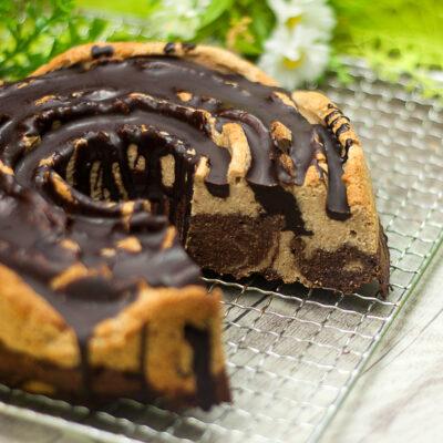 Der Marmorkuchen ist ein leckerer Low Carb Kuchenklassiker.