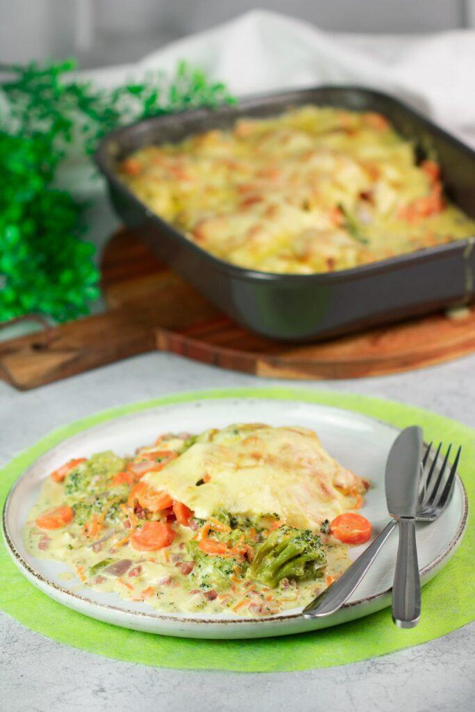 Brokkoli-Karotten-Gratin