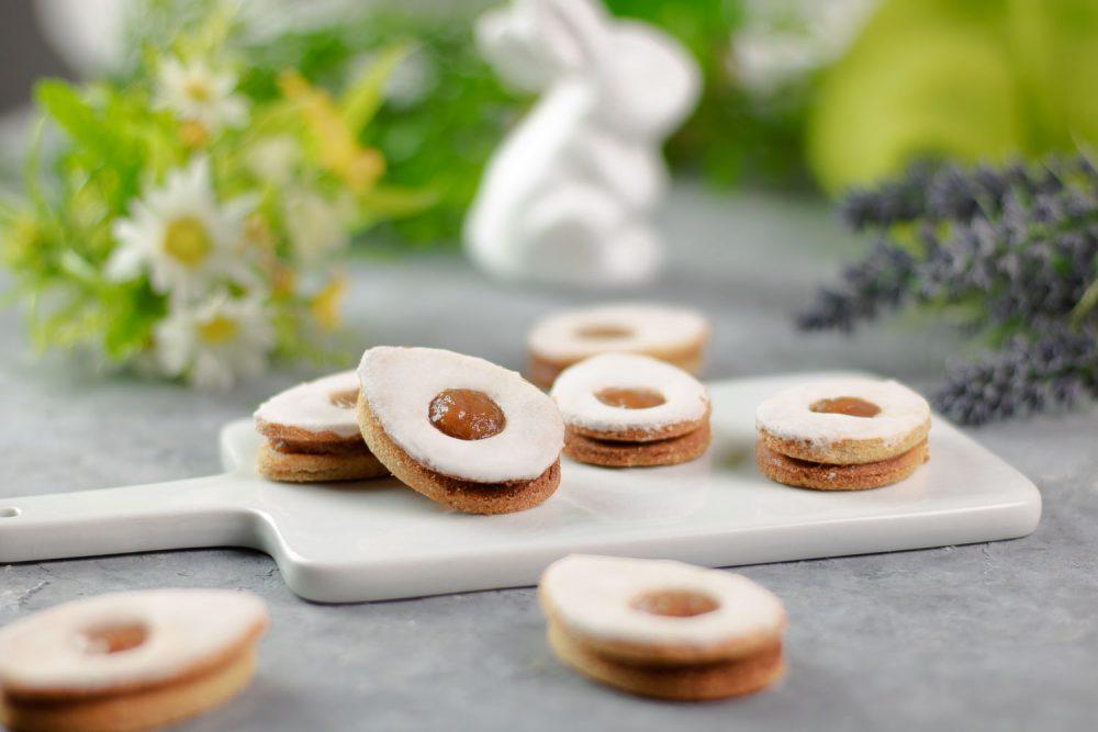 Leckere Low Carb Spiegelei-Kekse