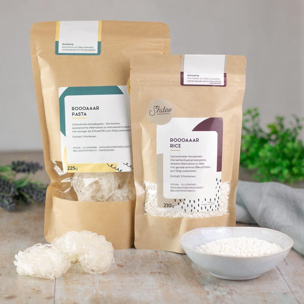 Shileo der Low Carb Nudel und Reis Ersatz