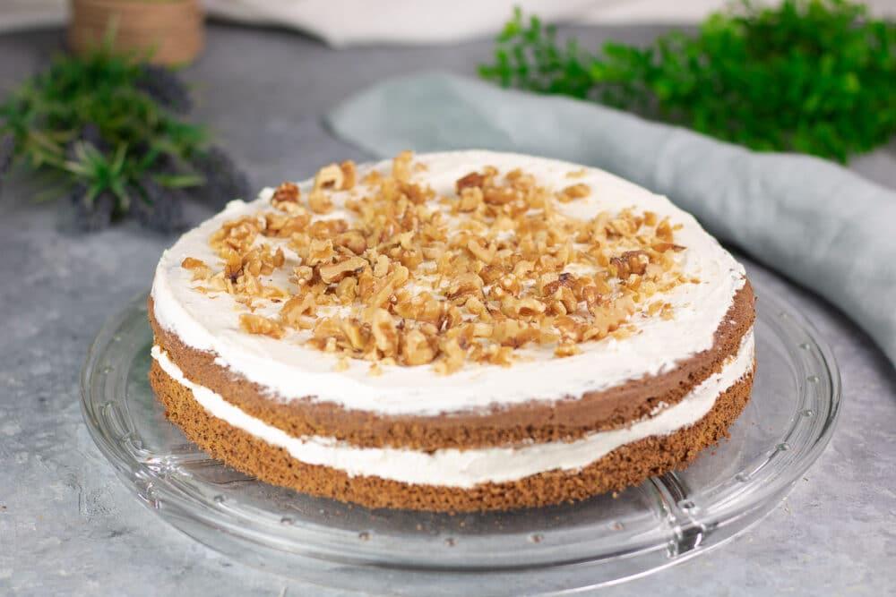 Walnuss-Kürbis-Kuchen
