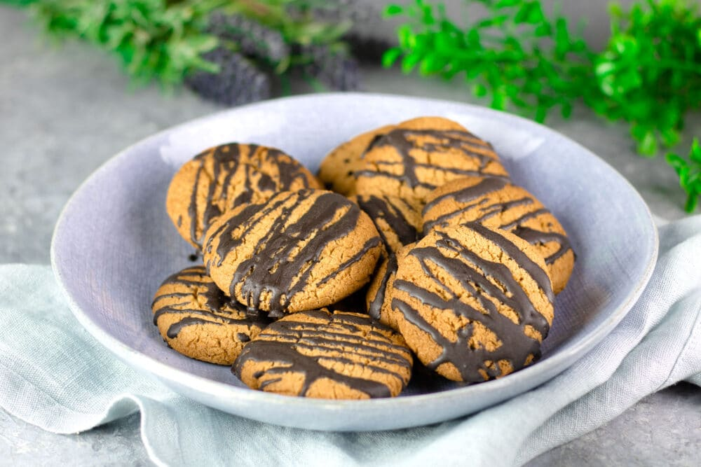 Orangen-Kekse mit Zartbitterschokolade