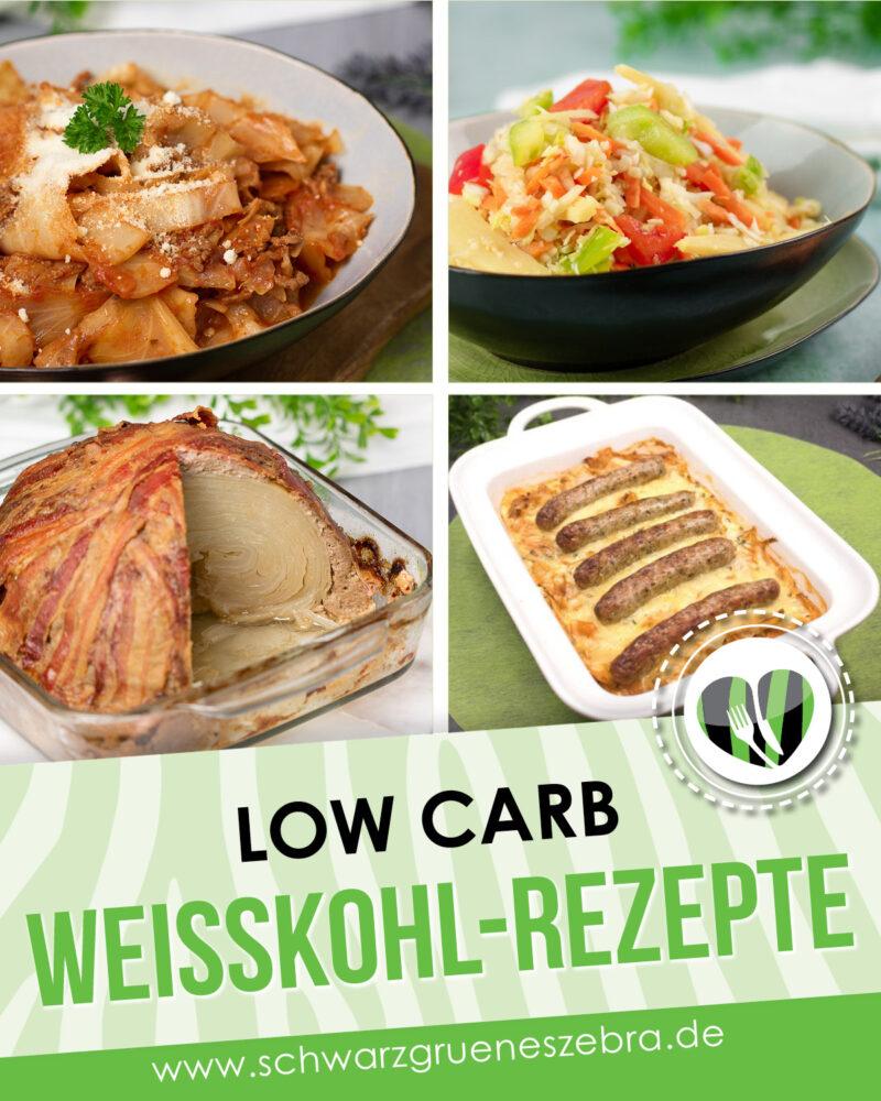 Die Weißkohl-Rezepte sind alle Low Carb, glutenfrei und super als Abend- oder Mittagessen geeignet.
