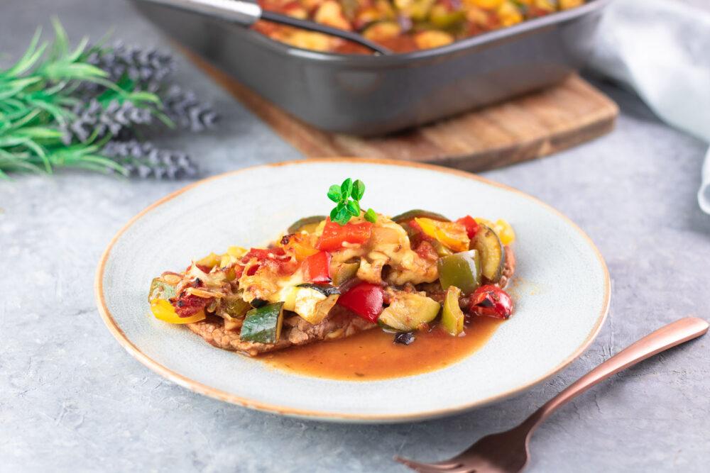 Ratatouille-Schnitzel – Low Carb und glutenfrei