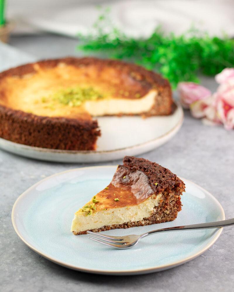 Der Karotten-Cheesecake ist super für den Frühling.