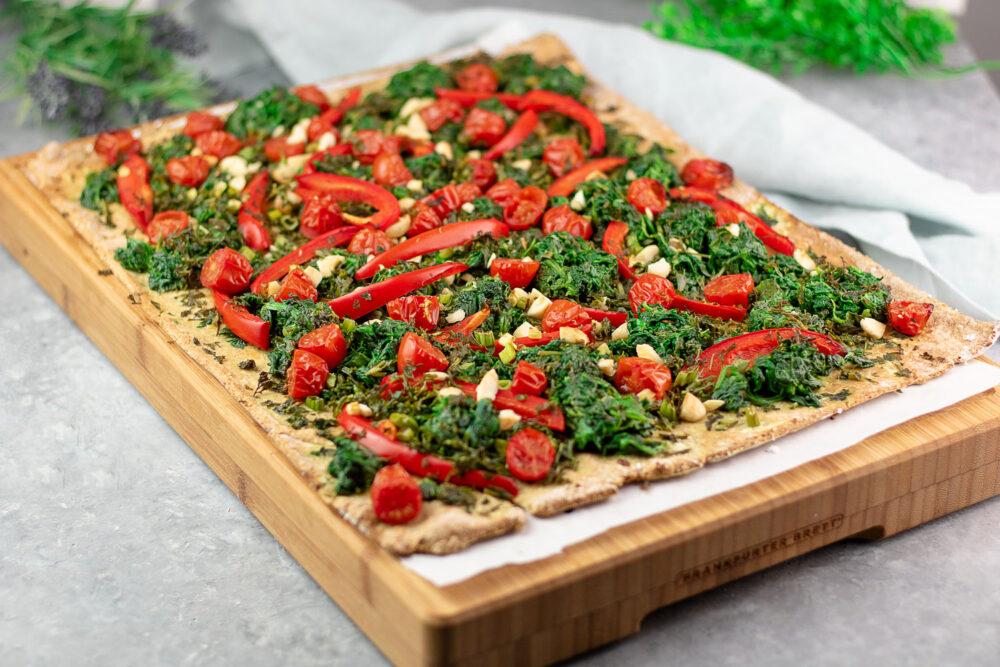 Coca de verduras – Spanische Pizza