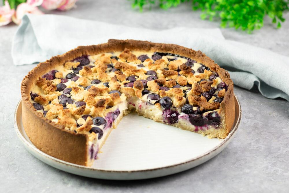 Heidelbeer-Pudding-Kuchen