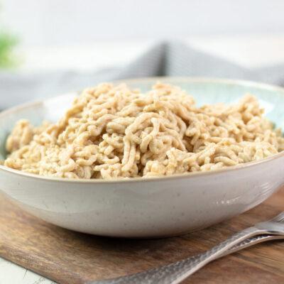 Low Carb Spätzle ohne Gluten, ohne Haferkleine, ohne Sojamehl und ohne Eiweißpulver.