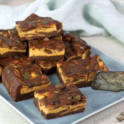 Kürbis-Brownies ohne Kohlenhydrate
