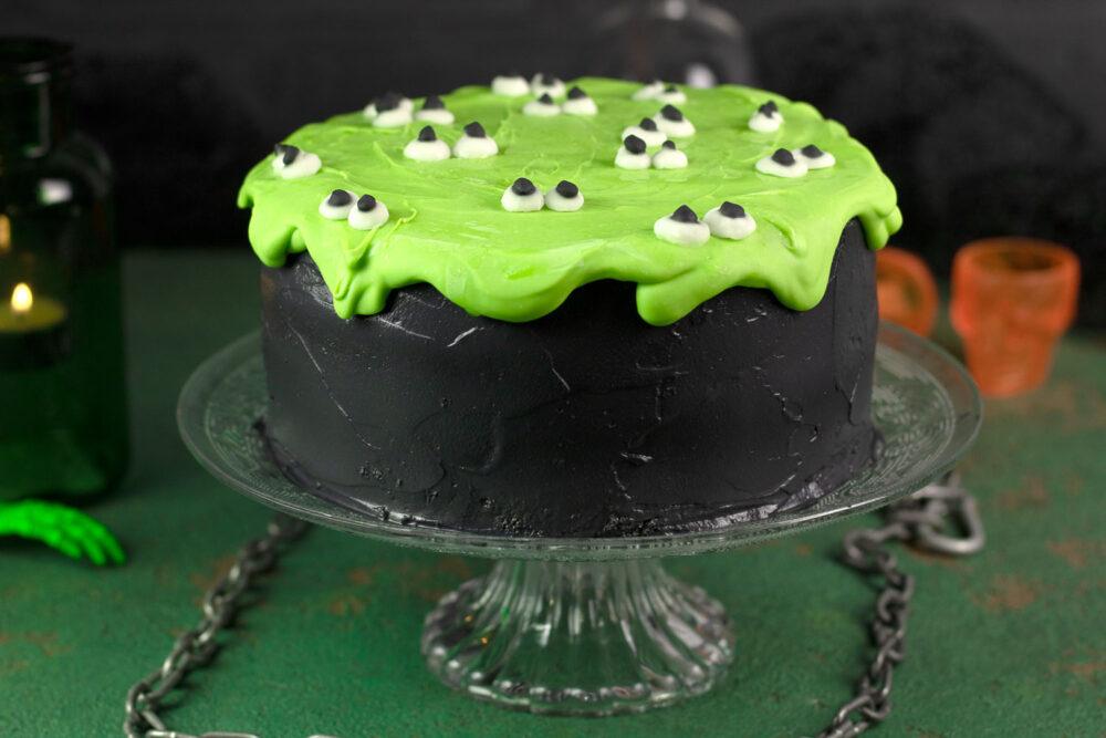 Schwarzgrüne Sleime-Torte