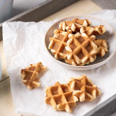 Super einfach gebackene Low Carb Waffel-Kekse