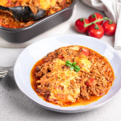 Toller Bolognese-Auflauf, Low Carb