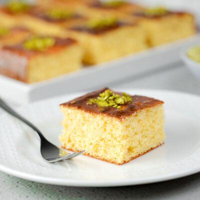 Low Carb Grießkuchen - Ravani