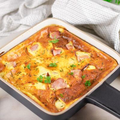 Leckeres Ofen-Omelett mit Kassler