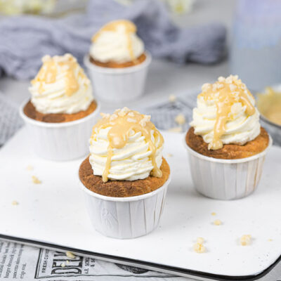 Low Carb Sahne-Karamell-Cupcakes