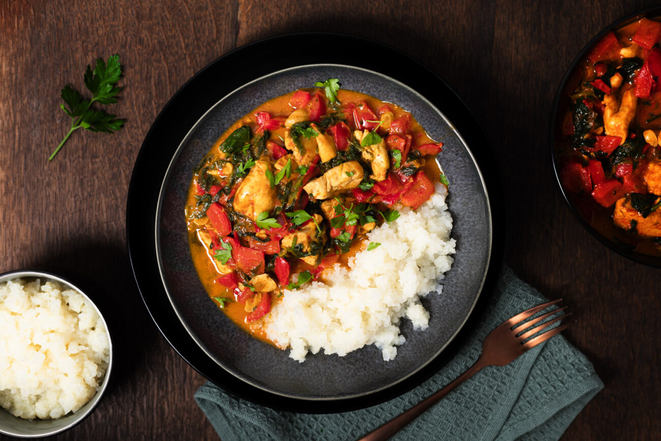 Einfach leckeres Paprika-Curry ohne Zucker und Stärke
