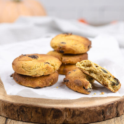 Low Carb Kürbis-Kekse mit Schoko-Stückchen